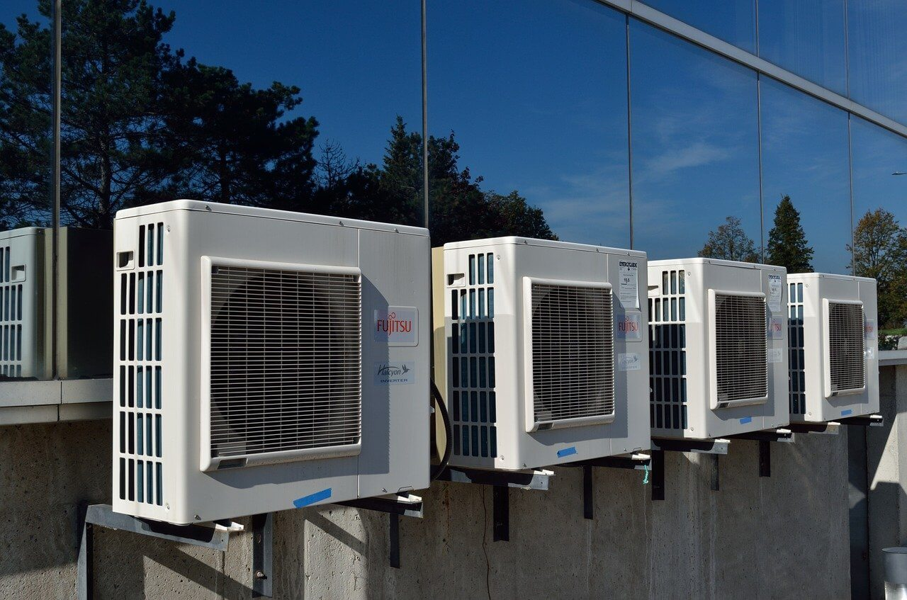 système chauffage réversible bureaux